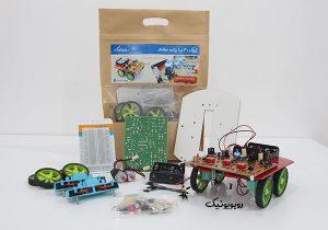 کیت سه ربات در یک، کیت سه ربات هوشمند، ربات مسیریاب، ربات تعقیب خط، ربات حل ماز، ربات نوریاب، ربات نورگریز رباتیک آروند
