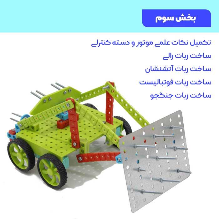 DVD آموزش رباتیک سطح 3 | ساخت 4 ربات روبوکاپ