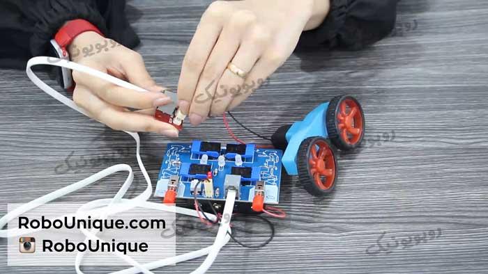 آموزش کار با دسته ربات 6 دکمه
