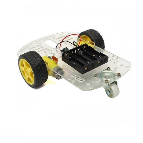 ساخت ربات با موتور گیربکس زرد