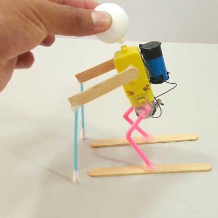 ایده ساخت کاردستی با موتورگیربکس زرد