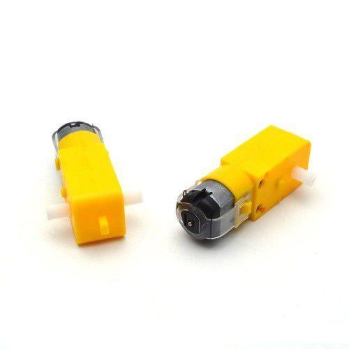 موتور گیربکس زرد دو شفت